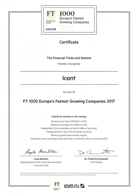 ICONT - Mechanotools srl: No. 1 in Italy
